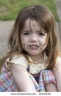 Cute Little Girl That Is Upset Stock Photo 10410238  Shutterstock