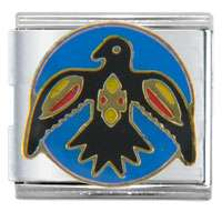 Native American Raven Italian Charm, Fashion Jewelry, Italian Charm