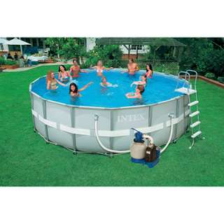 Round Ultra Frame Swimming Pool   18 Ft x 52 In   Saltwater System