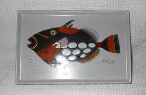 Fabienne Jouvin Ceramic Tropical Fish Plate Tray