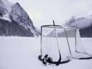 Ice Skating Equipment, Lake Louise, Alberta Photographic Print at
