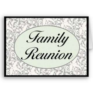 Family Reunion Invitation Card from Zazzle