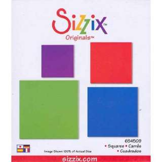 Sizzix Originals SQUARES Die RED 654509