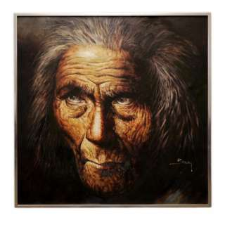 NATIVE AMERICAN INDIAN PORTRAIT ORIGINAL SIGNED OIL PAINTING BY JORGE