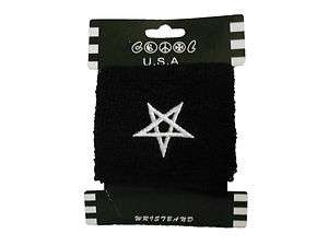 PENTAGRAM WRISTBAND BLACK METAL GOTHIC SATANIC
