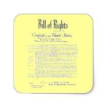 BILL OF RIGHTS (Great for envelopes!) Stickers by LibertyNowDesigns