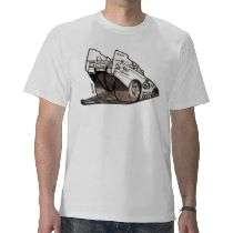 Drag Racing Funny Car Caricature Tshirt by ArtandTechnology