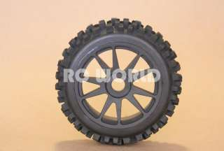 RC 1/8 CAR BUGGY TRUCK TIRES WHEELS RIMS PACKAGE KNOBBY