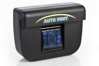 solar sun powered car auto air vent cool cooler fan new