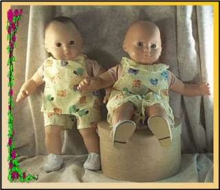 Doll Clothes Short Set fit American Girl Baby Boy Twins 14 16 inch