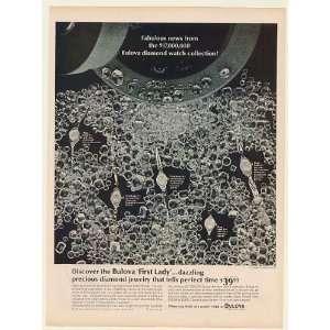 1964 Bulova First Lady Diamond Watches Print Ad (53420