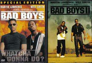 Bad Boys 1 & 2 II DVD Movie Lot DVDs Will Smith Movies