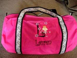 Personalized Ballerina Ballet Dancer Dance Duffle Bag