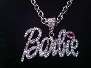 Halloween Costumes Nicki Minaj 2 BARBIE Iced Out Necklace Silver Tone