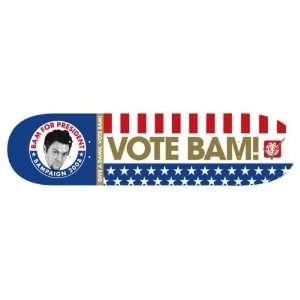 BAM MARGERA   VOTE BAM 08 ELEMENT Skateboard Deck Rare