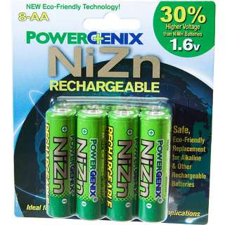 PowerGenix Eco Friendly Rechargeable AA Batteries, 8 pack Computers