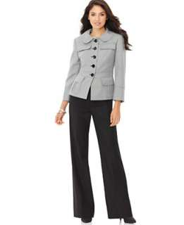 Nine West Houndstooth Pattern Jacket & Dress Pants   Suits & Suit