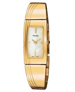 Pulsar Watch, Womens Goldtone Stainless Steel Bracelet PEGD44   Gold