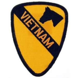 Army 1st Cavalry Vietnam Patch Black & Yellow 3 Patio, Lawn & Garden