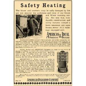 1907 Ad American Radiator Ideal Boilers Safety Heating