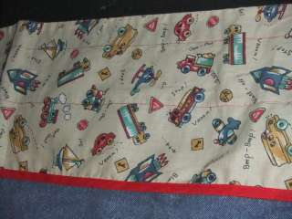 Lambs & Ivy Toddler Boys CARS & TRUCKS 85 x 15 1/2 Valance