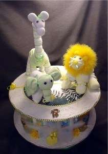 Jungle Safari Baby Shower Centerpiece Diaper Cake Decoration Gift
