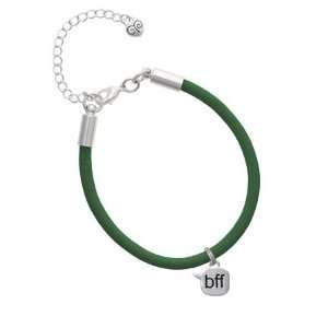 bff   Best Friends Forever   Text Chat Charm on a Kelly Green Malibu