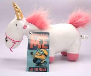 DESPICABLE ME Fluffy Unicorn stuffed Animal Plush Toy