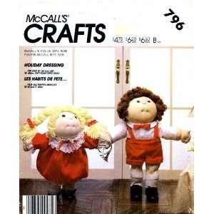 McCalls 796 Crafts Sewing Pattern Soft Sculpture Doll