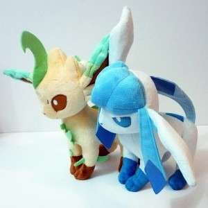 Pokemon LEAFEON GLACEON PLUSH 9.5 Stuffed Figure Doll