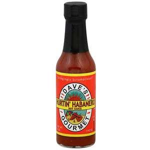 Daves Gourmet Hurtin Habanero Hot Sauce, 5 oz (Pack of