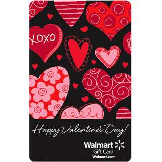 Valentines Day Black Hearts Gift Card Gift Cards