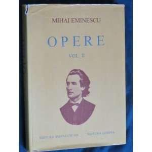 Mihai Eminescu   Opere   Volume 2   Foreign Language