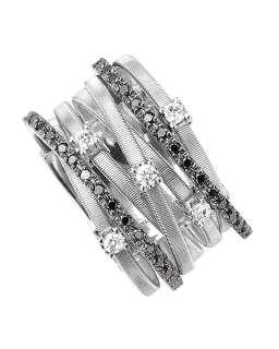 TRUNK SHOW Marco Bicego Goa Black Diamond White Gold Ring   TRUNK SHOW