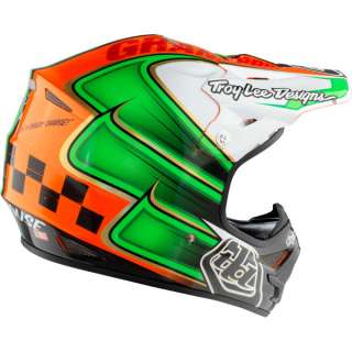 Troy Lee Designs Air Helmet Day Dirt Orange Green Small