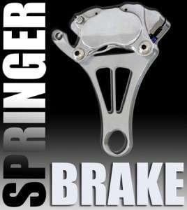 Harley DNA Chrome Springer Front End Brake Caliper Chopper Bobber