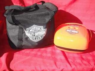 HARLEY DAVIDSON SADDLE BAGS TRAVEL SIZE MINI BBQ GRILL + PICNIC BASKET
