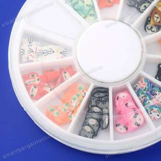 120x Hellokitty Fimo Clay Sticker 3D Nail Tips DIY Art Decoration
