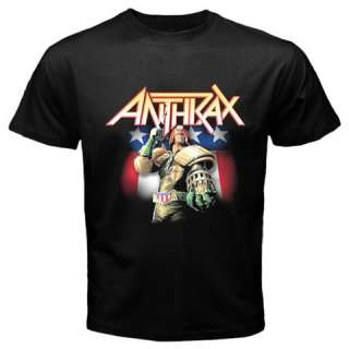 Anthrax Band Trash Speed Heavy Metal Rock Music Mens Black White T