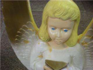 VINTAGE ANGEL BLOW MOLD LIGHTED CHRISTMAS ORNAMENTS  IN