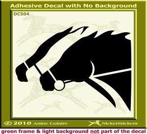 Thoroughbred Horse Racing Trailer Car Decal Sticker 468