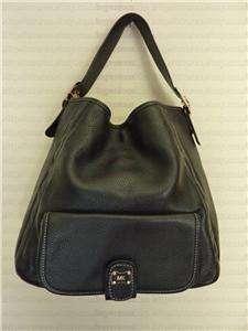 MICHAEL KORS Hamilton Black Leather Large Hobo Bag Purse Handbag