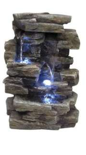 Tabletop Water & Stone Fountain w/ Light   Indoor & Outdoor Table Top