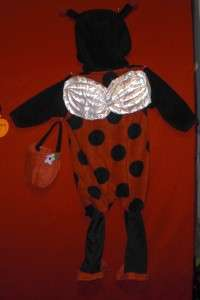 LADY BUG 1 PIECE BABY GRAND HALLOWEEN COSTUME 12 MONTH