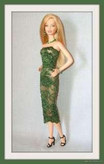 Handmade DRESS +JEWELRY 4 MODEL MUSE BARBIE BASICS DOLL