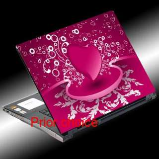 NEW PINK HEART NOTEBOOK SKIN LAPTOP COVER DECAL STICKER
