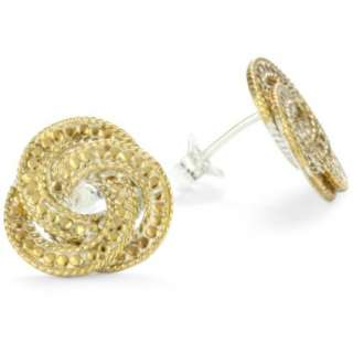 Anna Beck Designs Timor Woven Knot 18k Gold Plated Post Earrings