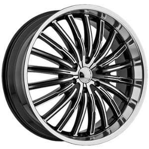 Panther Spyder 20x8.5 Machined Black Wheel / Rim 5x120 with a 35mm