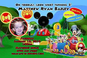Mickey Mouse Clubhouse Personalized Birthday Invitations & Party