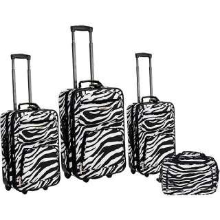 Rockland Zebra Print 4 Piece Expandable Luggage Set ?